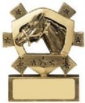 Equestrian Mini Shield Trophy